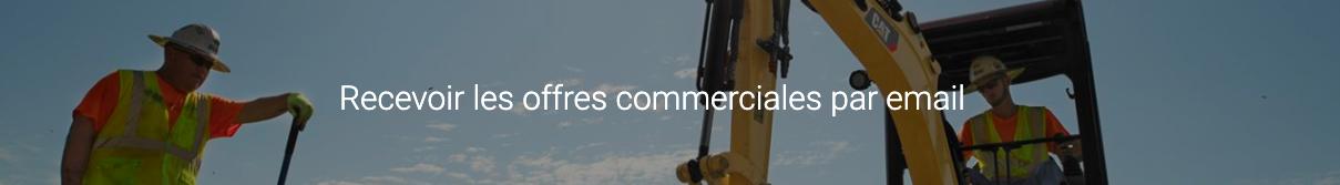 Recevoir les offres commerciales pa email