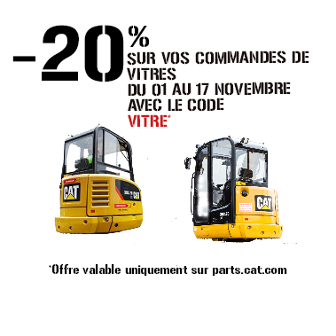 promo vitres Caterpillar Bergerat Monnoyeur