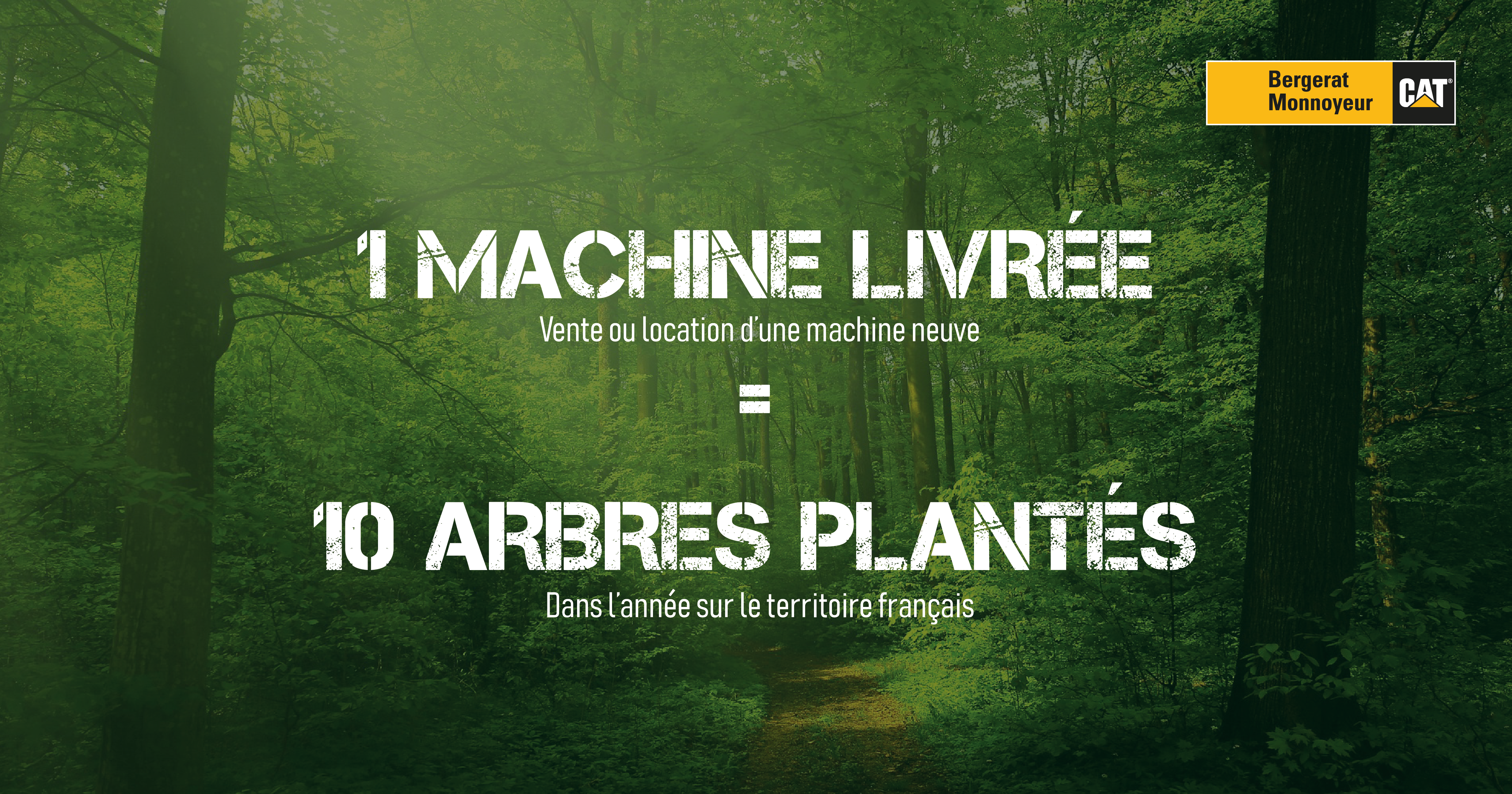 Une machine Livrée égale dix arbres plantés