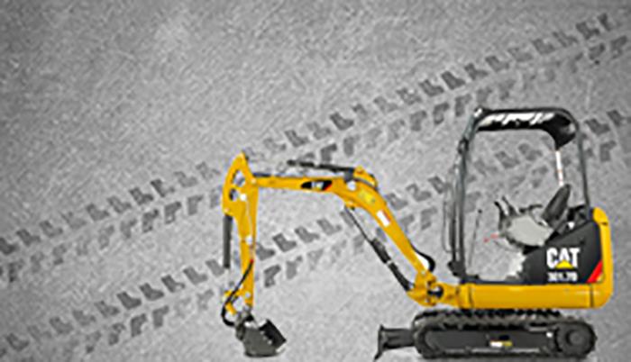 Minipelle CATERPILLAR configurer minipelle