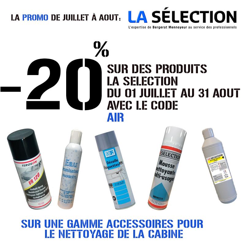 -20% pour les produit de la selection du 1 Juillet au 31 Aout, avec le code AIR