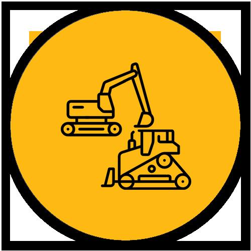 icone pelle et tracteur
