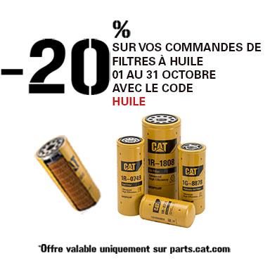-20% filtres à huile octobre