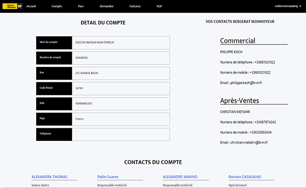Page portail BM Compte