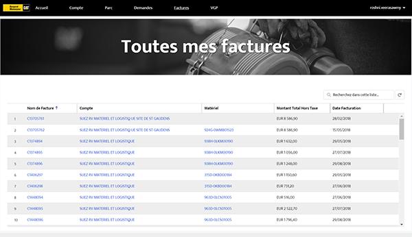 Page portail BM Factures