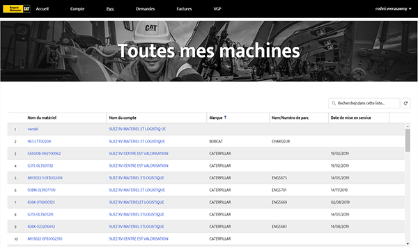 Page portail BM Machines